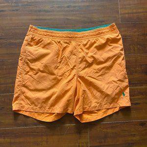 Vintage Polo Ralph Lauren Orange Swim Trunks Board